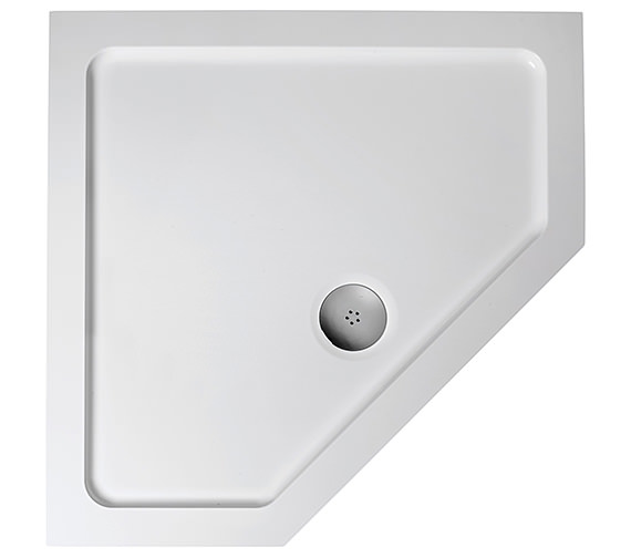 Ideal Standard Simplicity Low Profile 900mm Pentagon Flat Top Shower Tray