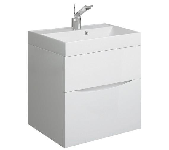 Bauhaus Glide II 500mm Wall Hung Basin Unit White Gloss