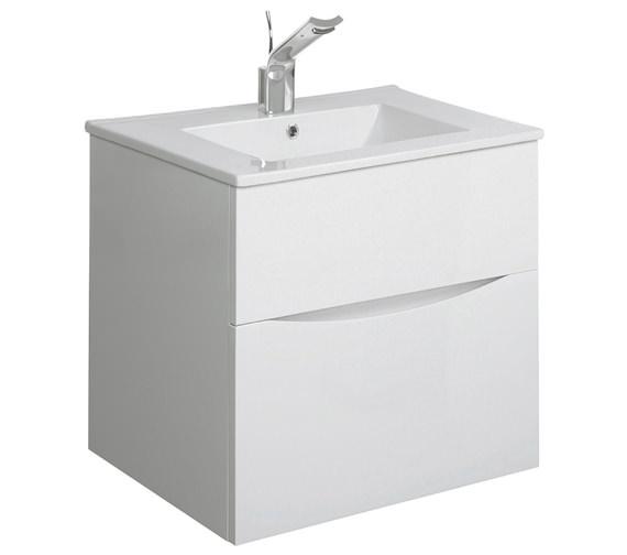 Alternate image of Bauhaus Glide II 500mm Wall Hung Basin Unit White Gloss