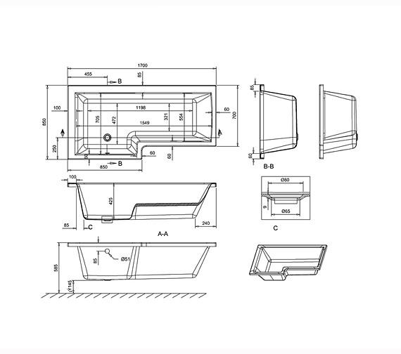 Technical drawing QS-V26285 / R17