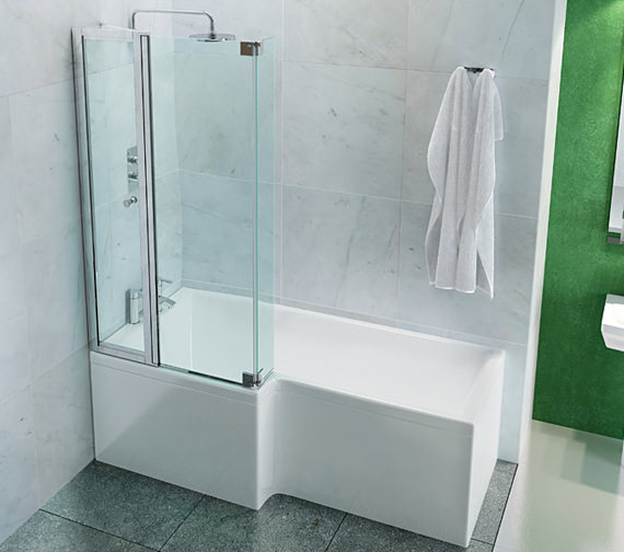 Cleargreen Ecosquare Left Handed Shower Bath 1700 x 850mm