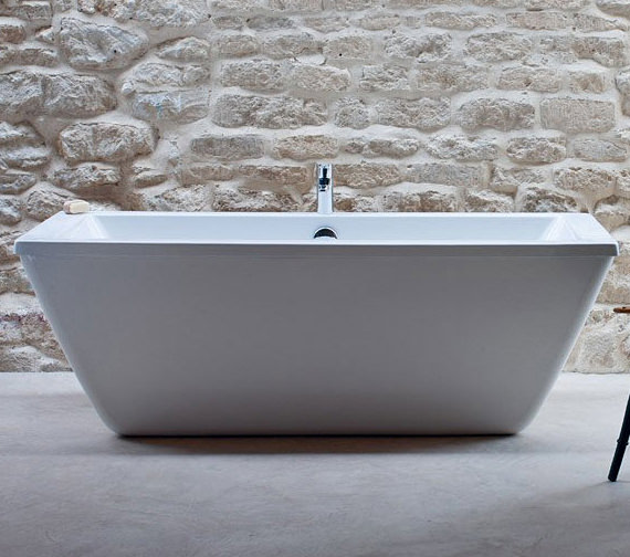 Cleargreen Freefortis Freestanding Bath With White Surround - R35