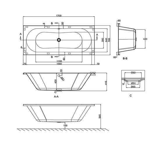 Technical drawing QS-V26305 / R8
