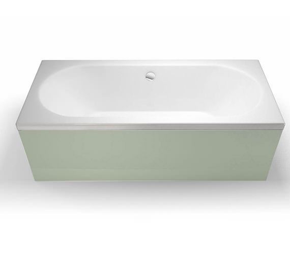 Additional image of Cleargreen Verde Rectangular Double Ended Bath 1700 x 700mm Round