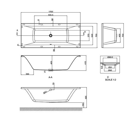Technical drawing QS-V26308 / R1