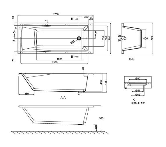 Technical drawing QS-V26316 / R5