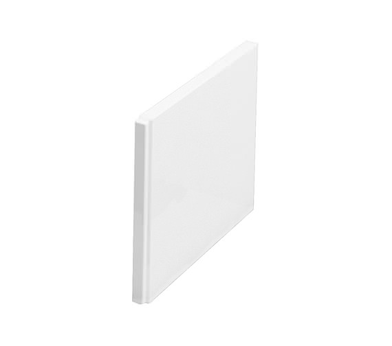 Cleargreen White Straight Bath 545mm Height End Panel