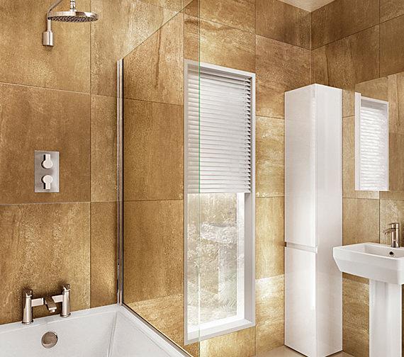 Cleargreen Hinged Bathscreen 850 x 1450mm