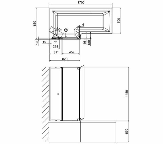 Technical drawing QS-V26335 / BS8L