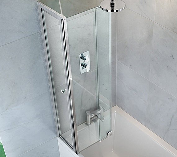 Additional image of Cleargreen Ecosquare 820 x 1450mm Bathscreen Left Handed