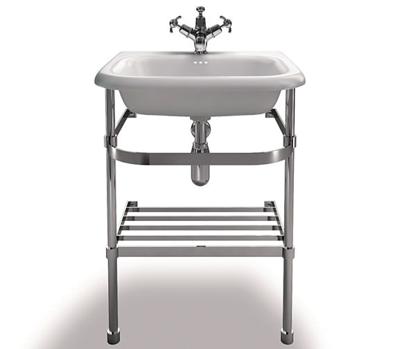 Clearwater Traditional Small Roll Top Basin With Stand 550mm