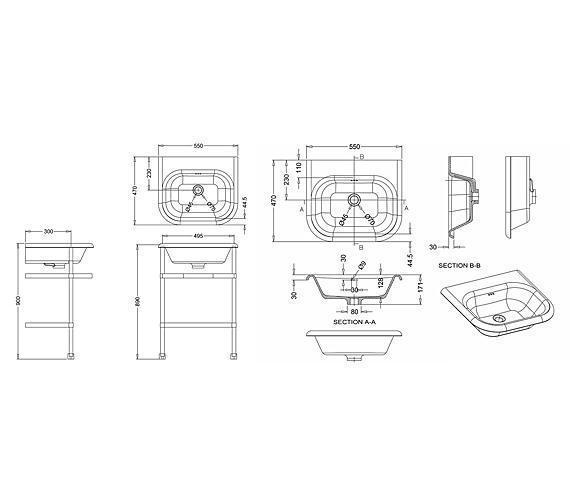 Technical drawing QS-V26358 / B7E