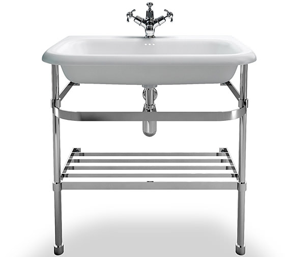 Clearwater Traditional Large Roll Top Basin With Stand 750mm