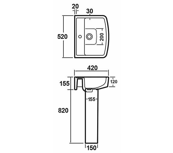 Technical drawing QS-V26407 / NCH105
