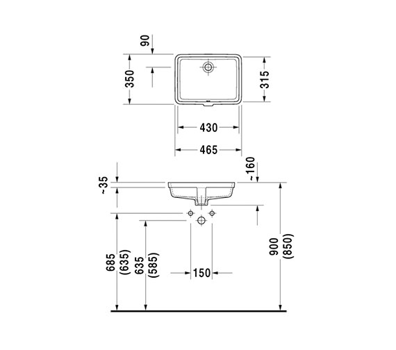 Technical drawing QS-V26588 / 0330430000