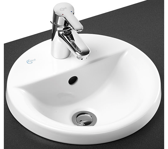 Ideal Standard Concept Sphere 380mm 1 Tap Hole Countertop Basin