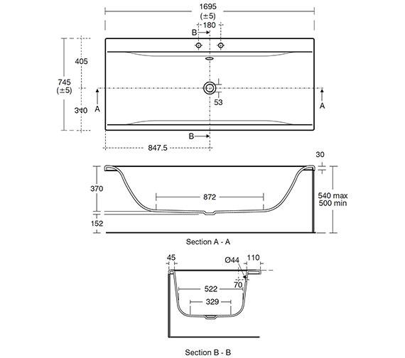 Technical drawing QS-V26650 / E729901