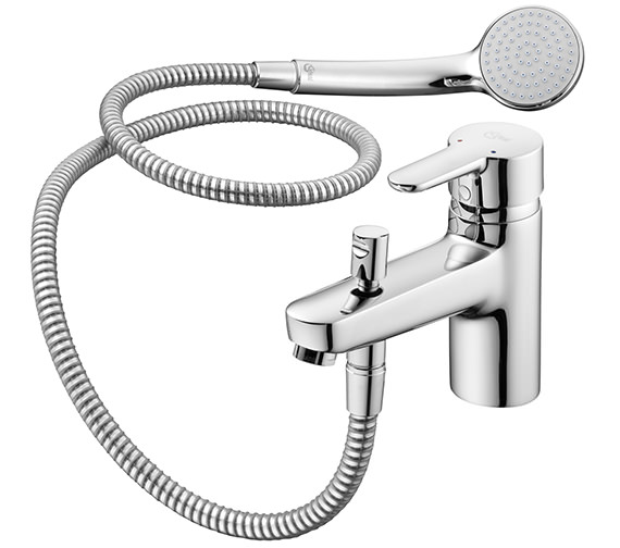 Ideal Standard Concept 1 Hole Bath Shower Mixer Tap With Kit
