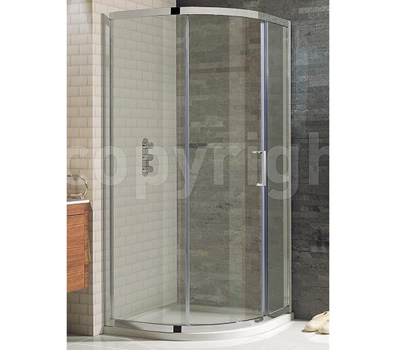 Simpsons Elite Framed Single Door Quadrant Enclosure 1000 x 800mm