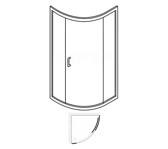 Technical drawing QS-V26751 / LQSSC10X8