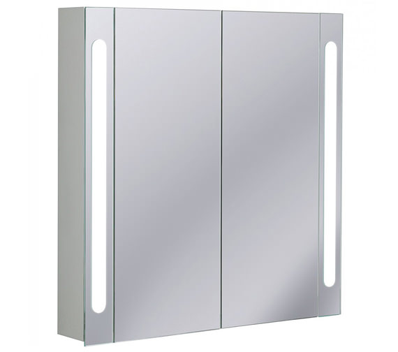 Bauhaus Aluminium 800 x 800mm Double Door Mirrored Cabinet