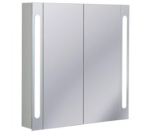 Bauhaus Aluminium 800 x 800mm Double Door Mirrored Cabinet