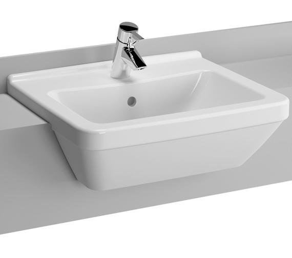 VitrA S50 Square 550mm 1 Tap Hole Semi Recessed Basin