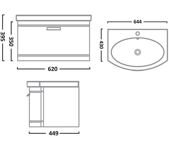 Technical drawing QS-V26803 / TE650WW