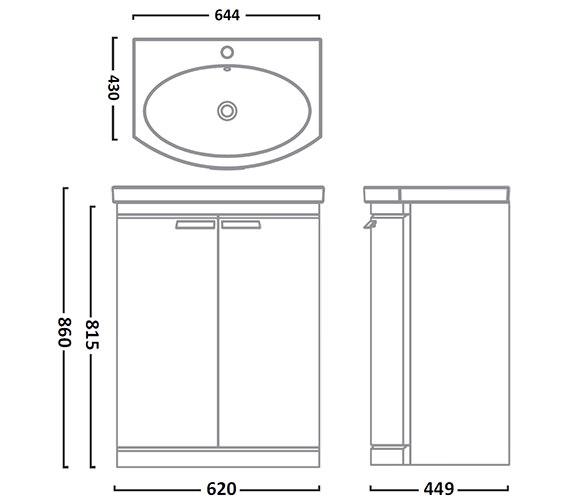Technical drawing QS-V26804 / TE650FW