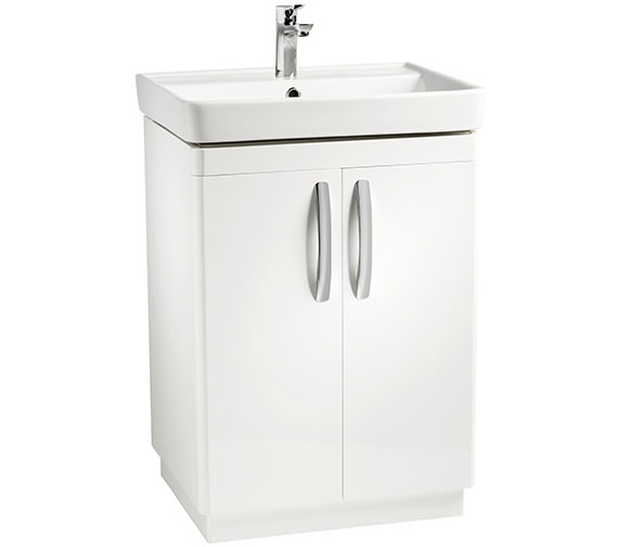 Tavistock Compass 600mm White Gloss Freestanding Unit And Basin