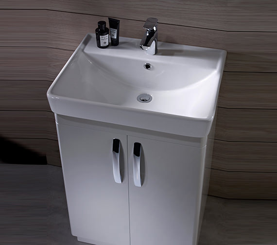 Additional image of Tavistock Compass 600mm White Gloss Freestanding Unit And Basin