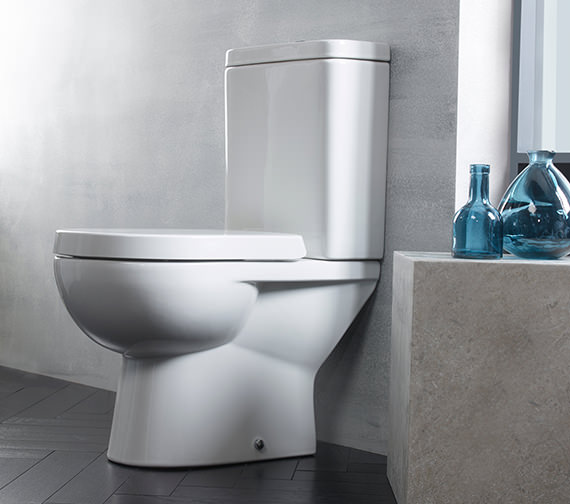 Tavistock Ion Close Coupled 600mm WC With Cistern And Toilet Seat