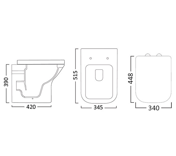 Technical drawing QS-V26816 / BTW450S