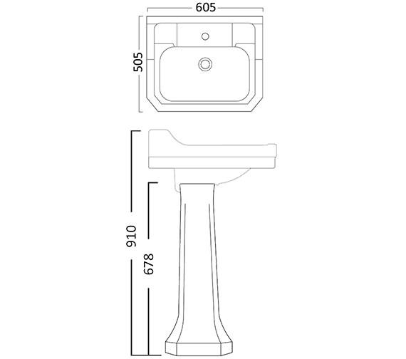 Technical drawing QS-V26819 / SB850S