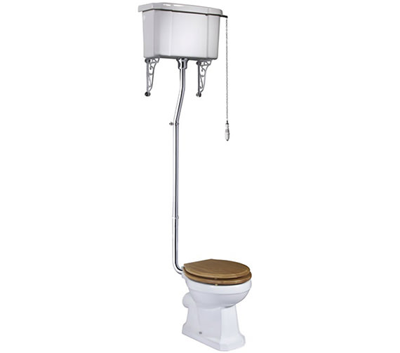 Tavistock Vitoria 438mm WC Pan With High Level Cistern