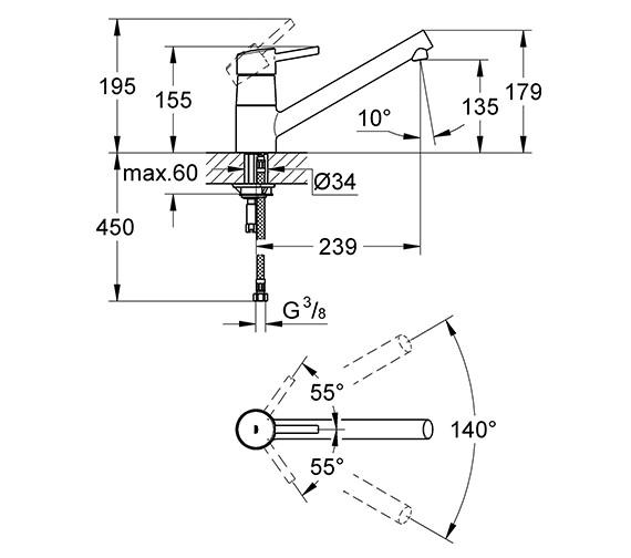 Technical drawing QS-V26824 / 32659001