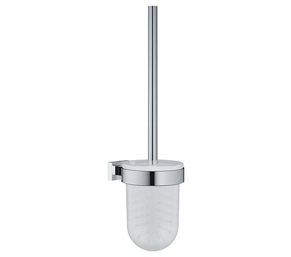 grohe essentials cube chrome toilet brush set. Black Bedroom Furniture Sets. Home Design Ideas