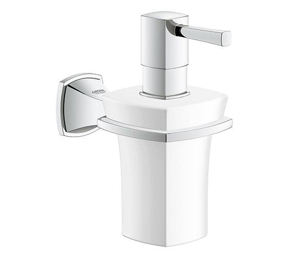 Grohe Spa Grandera Ceramic Soap Dispenser With Chrome Holder - 40 627 000