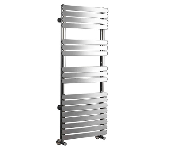 Phoenix Olivia 500mm Wide Curved Pre-Filled Electric Towel Rail Chrome