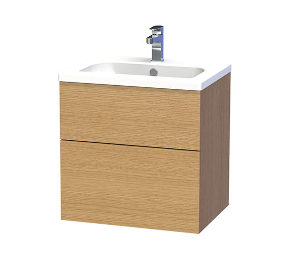 Miller New York 60 Oak Two Drawer Wall Hung Vanity Unit - 288-5