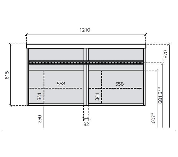 Technical drawing QS-V27016 / 266-2