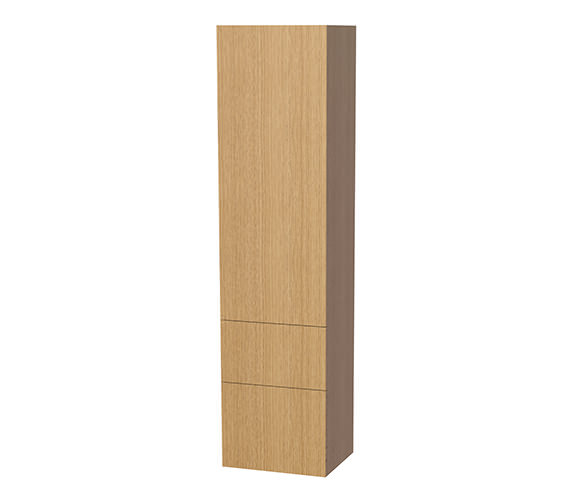 Miller New York Oak 1 Door And 2 Drawer Tall Cabinet 400 x 1690mm