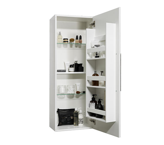 Additional image of Miller New York White Cabinet With Single Storage Door 400 x 1111mm
