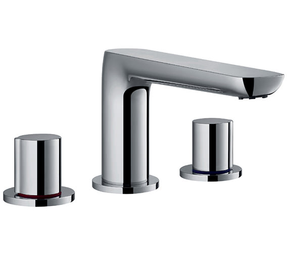 Flova Allore 3 Hole Deck Mounted Bath Filler Mixer Tap