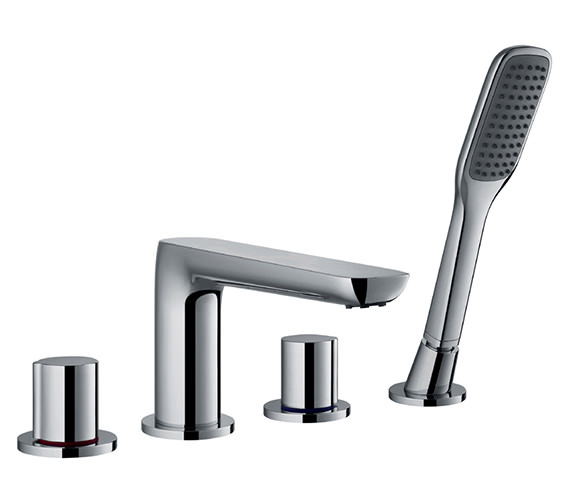 Flova Allore 4 Hole Bath-Shower Mixer Tap With Handset And Hose