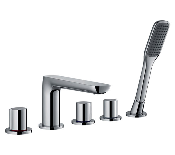 Flova Allore 5 Hole Bath-Shower Mixer Tap With Handset And Hose