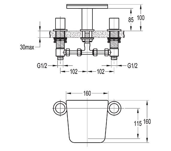 Technical drawing QS-V27047 / AN3HBAS