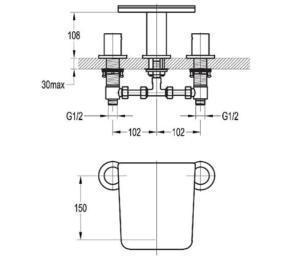 Technical drawing QS-V27050 / AN3HBF