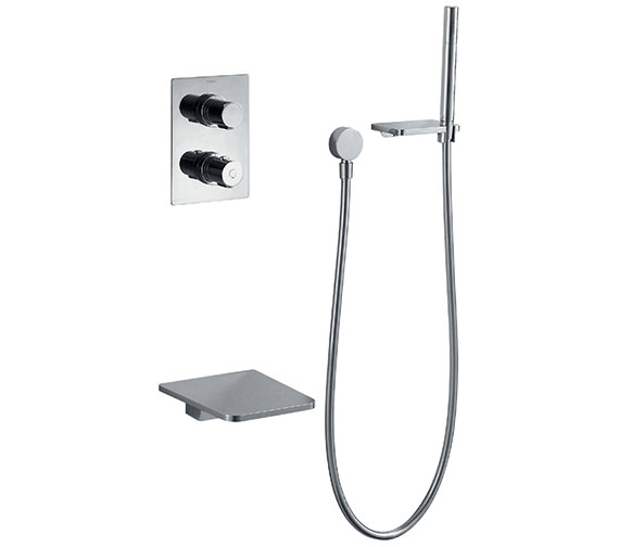 Flova Annecy Thermostatic Shower Valve With Diverter-Spout And Handset Kit
