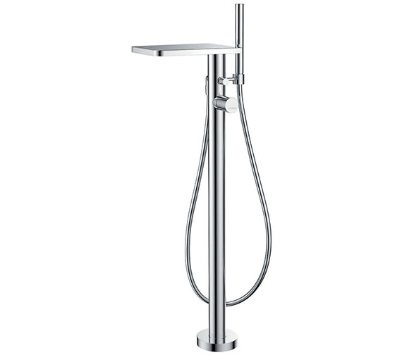 Flova Annecy Floor Standing Bath-Shower Mixer Tap With Handset And Hose
